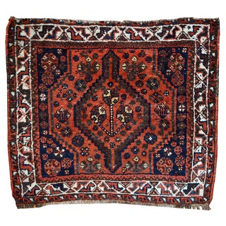 1930s Hand Made Antique Persian Shiraz Bag Face For Sale
