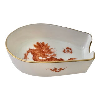Meissen Red Ming Dragon Individual Ashtray For Sale