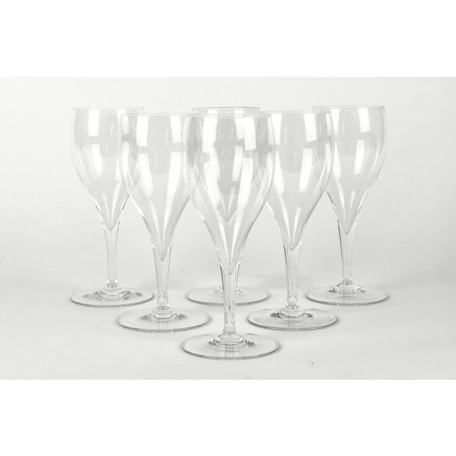 Contemporary Vintage Baccarat Crystal Wine Glassware Set Six For Sale - Image 3 of 7
