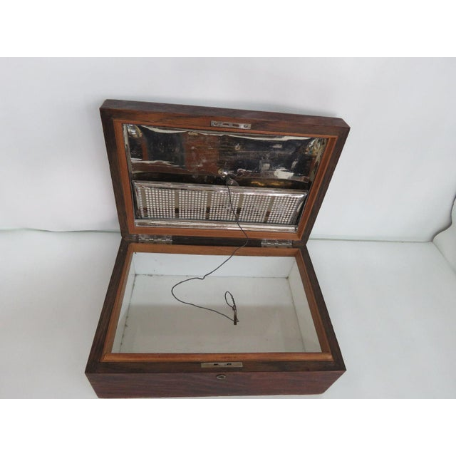 Early 1900s Oak Tabletop Cigar Tobacco Humidor Chest Box For Sale - Image 10 of 11