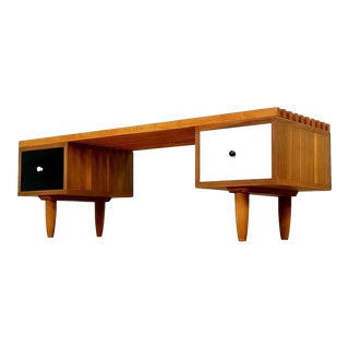 Danish Modern Slat Coffee Table/Bench For Sale