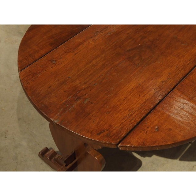 Pair of Antique Walnut Drop Leaf Side Tables From Italy, Circa 1900 For Sale - Image 10 of 12