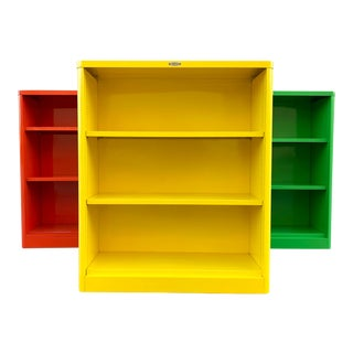 1960s McDowell Craig Tanker Bookcase in Custom Colors, Refinished to Order For Sale