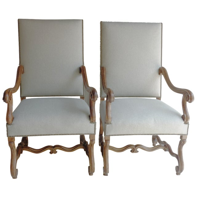 Louis XIV-Style Fauteuils - A Pair For Sale