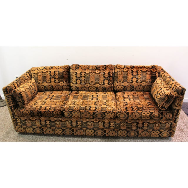 Mid Century Milo Baughman Forecast Furniture Sofa - Image 4 of 11