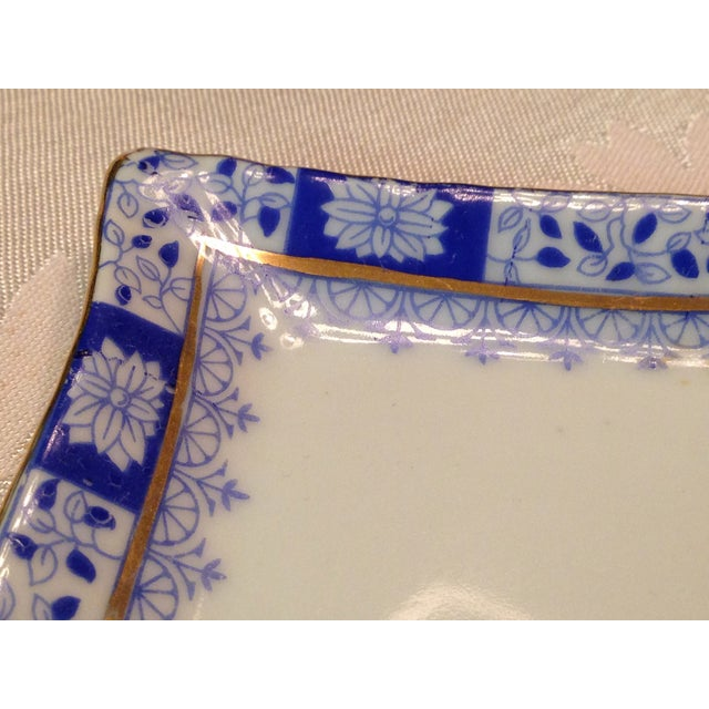 Old Moschendorf Bavaria Small Blue & White Tray - Image 3 of 7