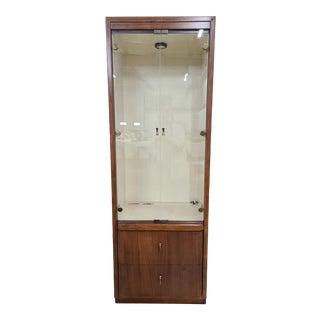 Drexel Heritage Vista Display Cabinet Giasana Collection Walnut in Henna Finish For Sale