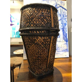 20th Century Indonesian Hand Woven Rattan and Bamboo Hauling Basket Preview