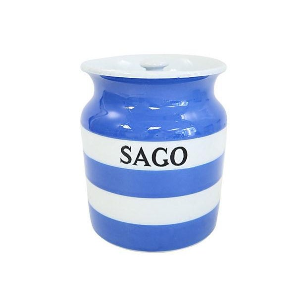 Vintage English Cornishware Sago Canister - Image 1 of 3
