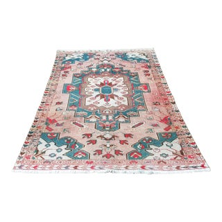 Antique Persian Handmade Shariz Rug-4′4″ × 6′3″ For Sale