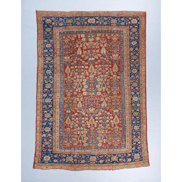 Red Ground Mahal Carpet For Sale In Los Angeles - Image 6 of 6