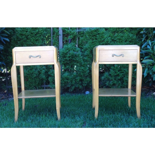 Mid Century 50's French Deco Nightstands - Pair - Image 2 of 3