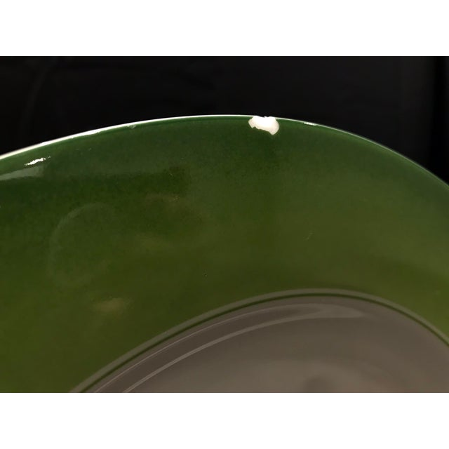 Lynn Chase Green and White Chargers - Set of 6 For Sale - Image 9 of 11