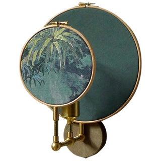 Circle Blue Grey Wall Sconce, Sander Bottinga For Sale