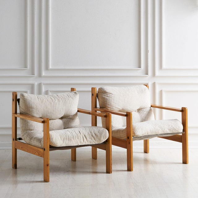Pair of European Wooden Lounge Chairs For Sale - Image 11 of 11