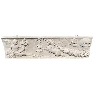 Fascinating Bas Relief Sculpture With Skull From a Belgian Castle For Sale
