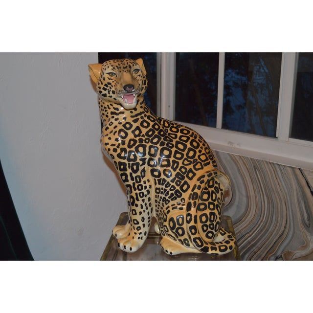 Gorgeous vintage ceramic Leopard Statue. Bought from an estate sale in New Orleans!