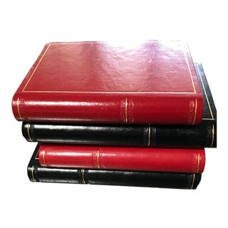 Traditional Decorative Leather Bookends - a Pair For Sale