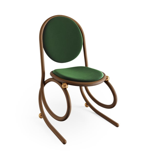 Not Yet Made - Made To Order 21st Century Custom Made Contemporary One of a Kind Spring Chair For Sale - Image 5 of 5