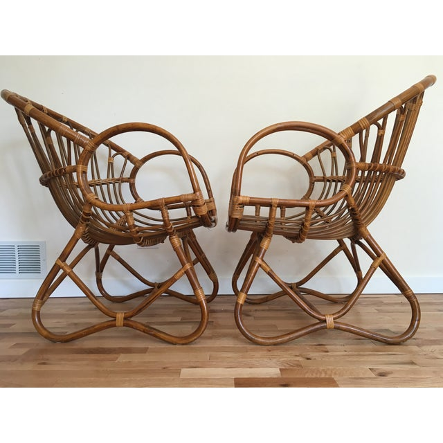 1960s Franco Albini Style Scoop Chairs - Pair For Sale - Image 4 of 6