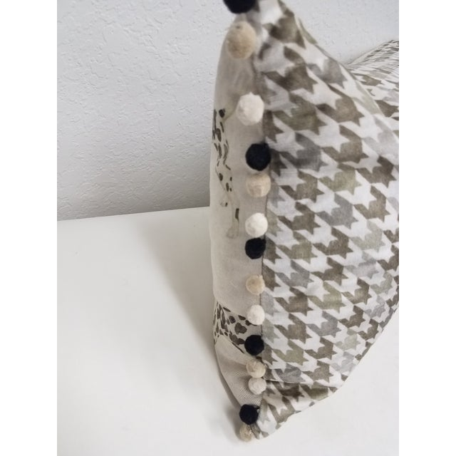 Textile Dalmations Bolster Pillow For Sale - Image 7 of 9