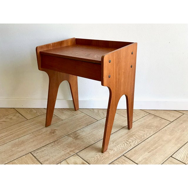 Vintage mid century modern wood nightstand. One single drawer. Discovered in Southern California estate. Owners were...