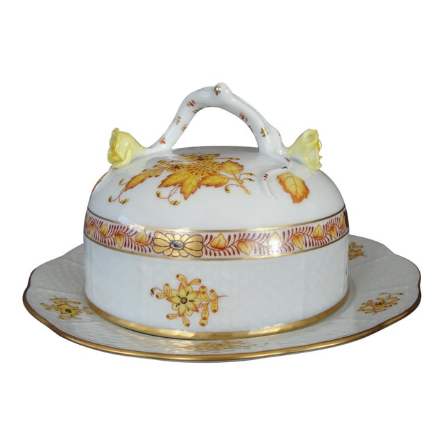 Herend Chinese Floral Butter Dish - Image 1 of 11