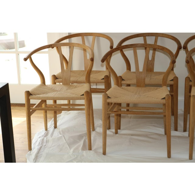 Hans Wegner for Carl Hansen & Son Ch24 Wishbone Chairs - Set of 8 For Sale - Image 9 of 13