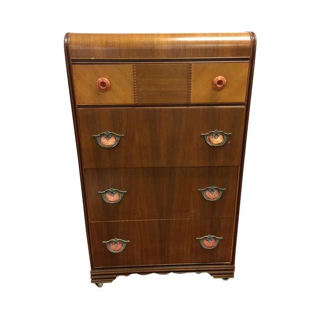 Art Deco Tall Dresser with Drawers - Image 1 of 11