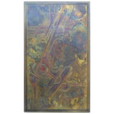 Image of Bernhard Rohne Brass Acid Etched Wall Art For Sale
