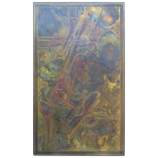 Bernhard Rohne Brass Acid Etched Wall Art For Sale
