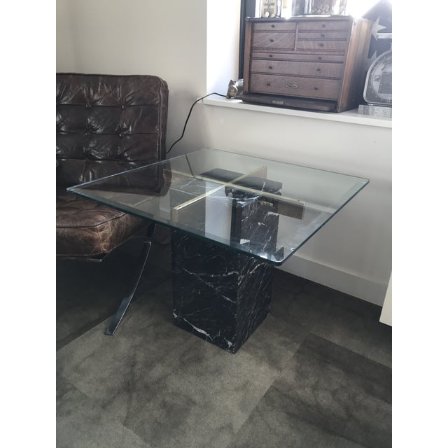 Artedi Nero Marquina Marble Side Tables - A Pair For Sale - Image 9 of 10