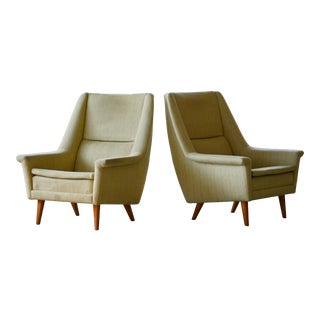 Pair of Folke Ohlsson Lounge Chairs for Fritz Hansen Danish Midcentury For Sale
