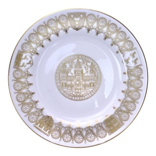 Vintage Spode Commemorative Plate of the Canterbury Cathedral For Sale
