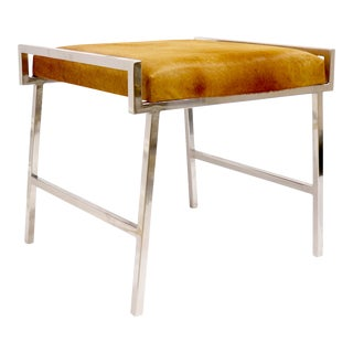 Pasargad Home Eira Cowhide Stool For Sale