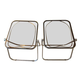 1960's Giancarlo Piretti for Anonima Castelli Plona Folding Chairs - a Pair
