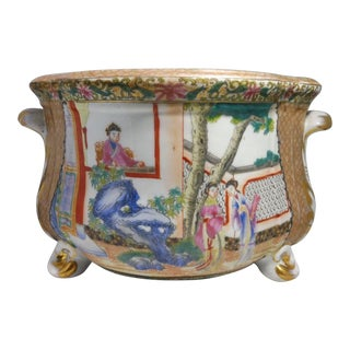 19th Century Chinese Famille Rose Cache Pot For Sale