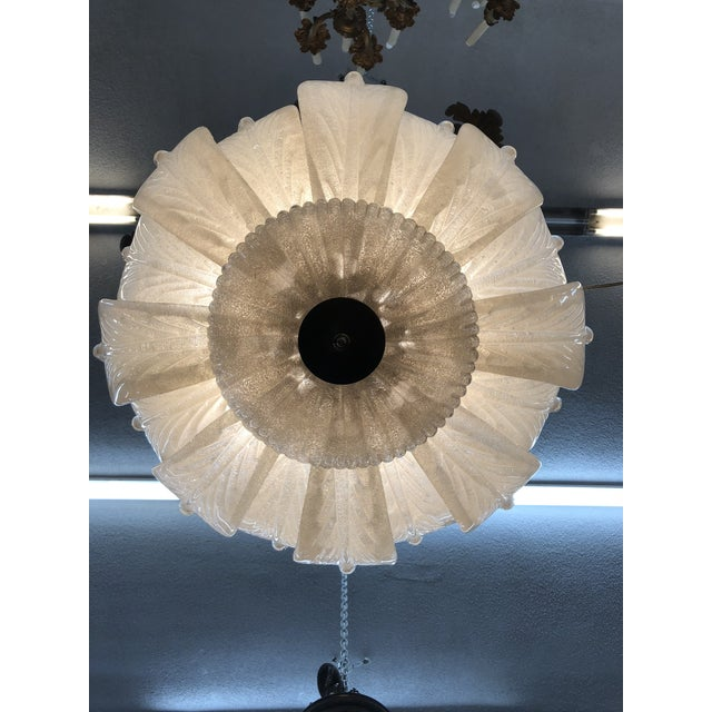 Mid-Century Murano Glass Flower Petal Chandelier For Sale - Image 4 of 11