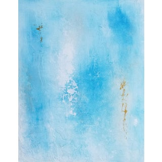 """Abstract """"Soul"""" Blue Acrylic Painting For Sale"""