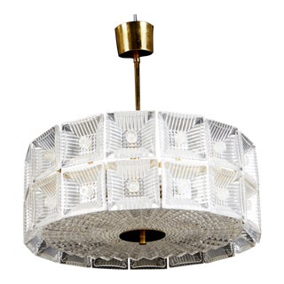 Chandelier by Carl Fagerlund for Orrefors Glassworks For Sale
