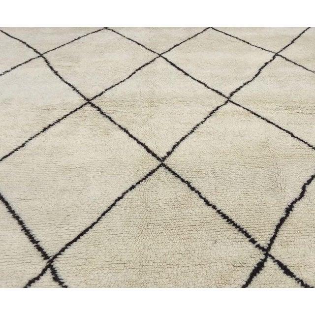 "Harlequin Moroccan Handmade Wool Rug - 10'9"" x 7'2"" - Image 2 of 4"