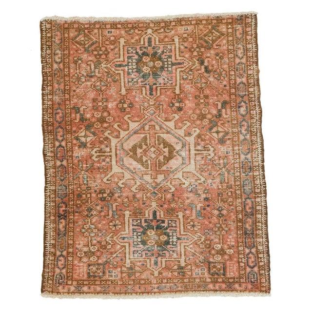 "Vintage Persian Karaja Square Mat - 2' x 2'5"" - Image 1 of 6"