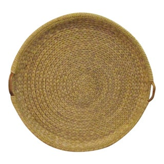 Palecek Wicker & Bamboo Handled Tray