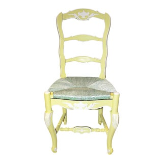 French Country Ladderback Chair For Sale