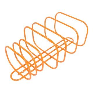 Contemporary Orange Metal Wire Bathroom Wash Towel Rack For Sale