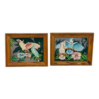 Vintage Tropical Paint by Numbers - a Pair For Sale