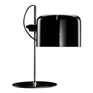 "Joe Colombo Model #2202 ""Coupé"" Table Lamp in Black for Oluce For Sale"