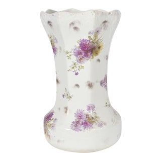 Tall English Porcelain Umbrella Stand For Sale