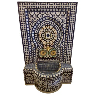 Rabat Moroccan Mosaic Fountain For Sale