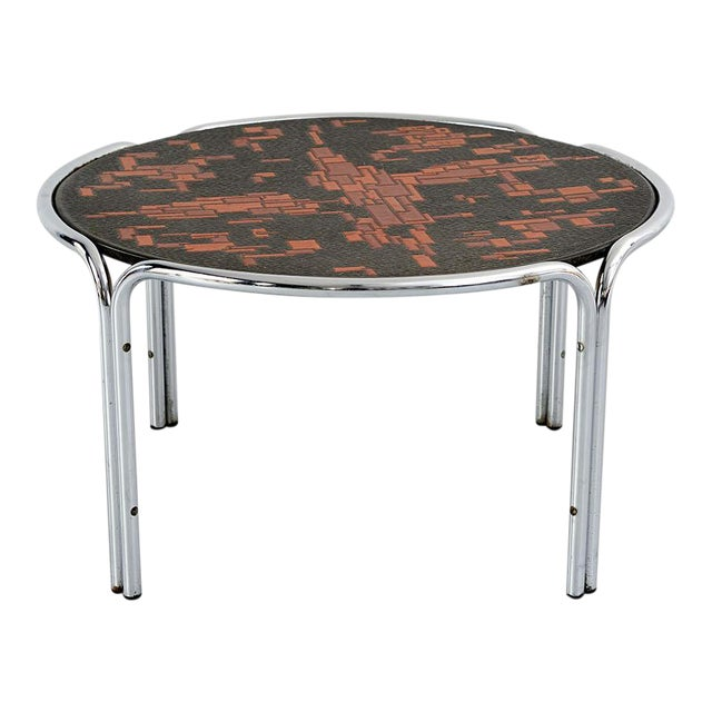 Mid-Century Cocktail Table Attributed to Roger Capron For Sale